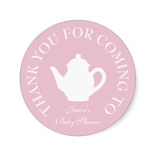 38cm Thanks For Coming Baby Shower Tea Party Stickers In Stickers