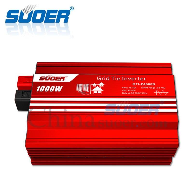 Suoer【 inwerter sieciowy 】 1000W 24V 220V energia słoneczna na inwerter sieciowy (GTI-D1000B)