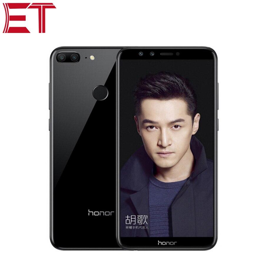 Tout nouveau téléphone portable Honor 9 Lite 4G LTE 4 GB RAM 64 GB ROM Kirin 659 Octa Core reconnaissance d'empreintes digitales quatre caméras téléphone intelligent