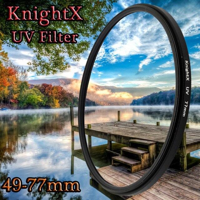 KnightX 52 mét 58 mét 67 mét 77 mét UV MC Ống Kính Lọc cho Canon Nikon 1200D 750D D7000 D5100 d5300 D3200 D3300 d5 d6 t5i 600d 70d 90d