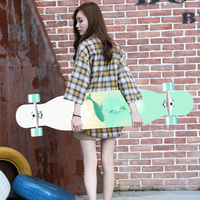 118cm Long board skateboard girls professional brush street road four wheel skateboard dance board scooter
