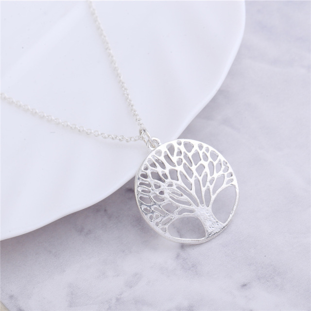 Products necklace Modern circular hollow out wishing tree pendant Fashion 2017 Accessory Casual Gift