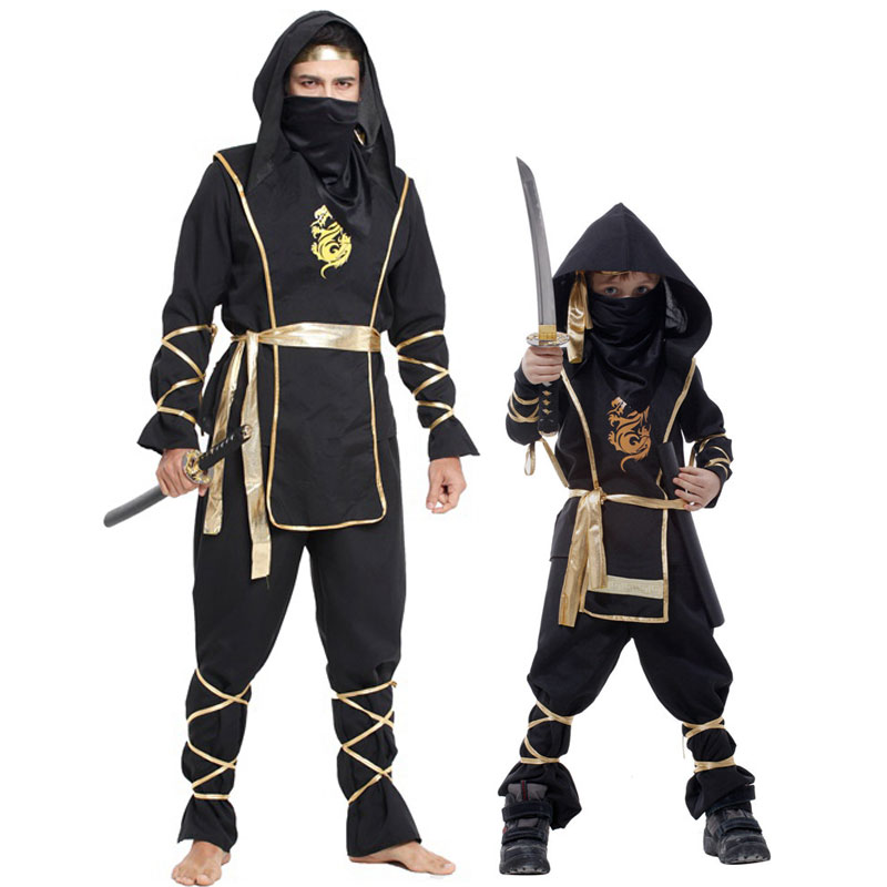 Umorden Halloween Dragon Ninja Costume Men Boys Warrior Swordsman Cosplay For Adult Kids Fancy Carnival Party Clothes