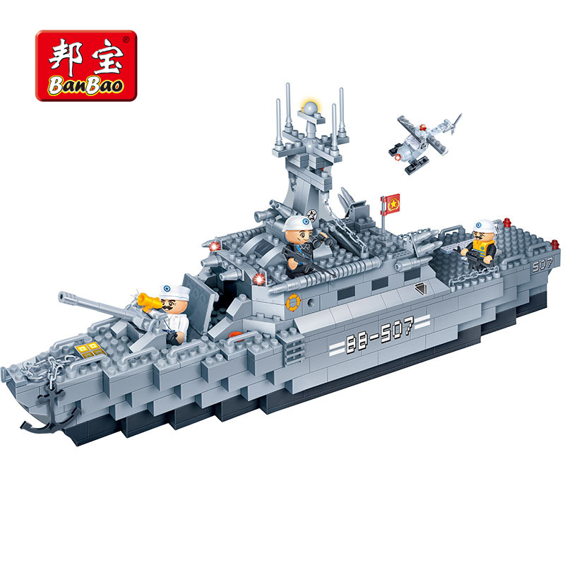 BanBao Military Frigate Warships Aircraft Building Blocks Educational Toy Model 8415 Chi ...