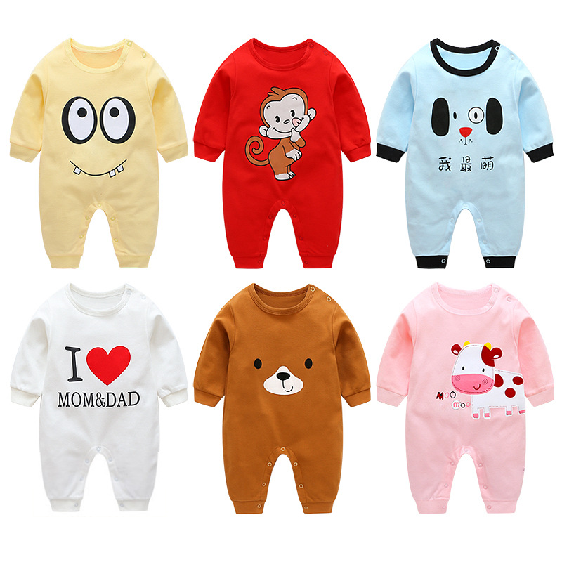 Baby Clothing Spring Autumn Clothes Newborn Cotton Climbing Clothes Long Sleeved Cartoon   Rompers   Baby Animal Boutique Costumes