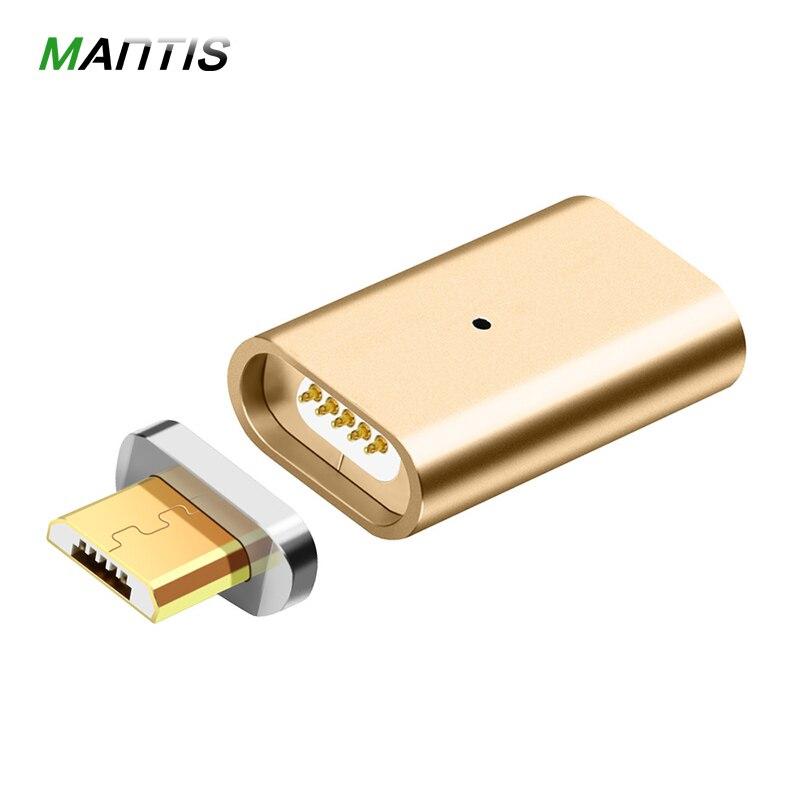 Micro USB для магнитного зарядного устройства, кабель для передачи данных, адаптер для Android, зарядный кабель, Магнитный адаптер для Samsung телефона