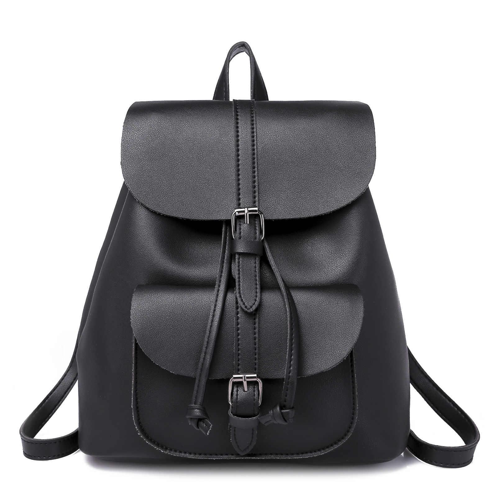 fc900a52b ... Модные женские кожаные рюкзаки на шнурке для девочек-подростков,  маленькие школьные сумки, женские ...