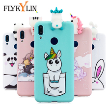 FLYKYLIN 3D Toys Unicorn Case For Huawei Y9 Y7 2019 P30 Pro P20 P10 Lit