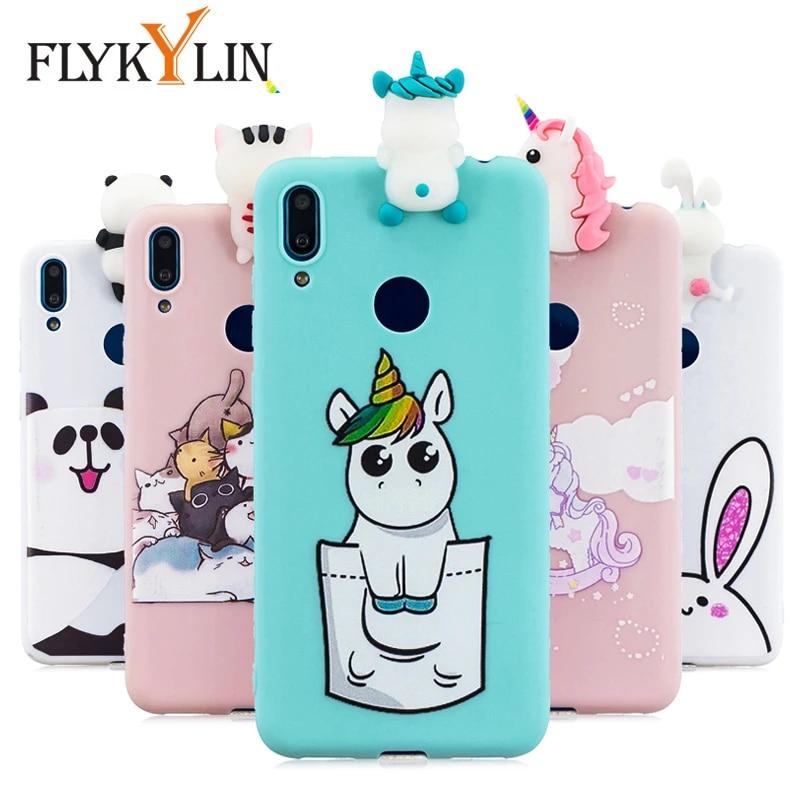 FLYKYLIN – Coque de téléphone 3D, jouets licorne, étui en silicone TPU souple pour Huawei Y9 Y7 2019 P30 Pro P20 P10 Lite P8 Lite 2017