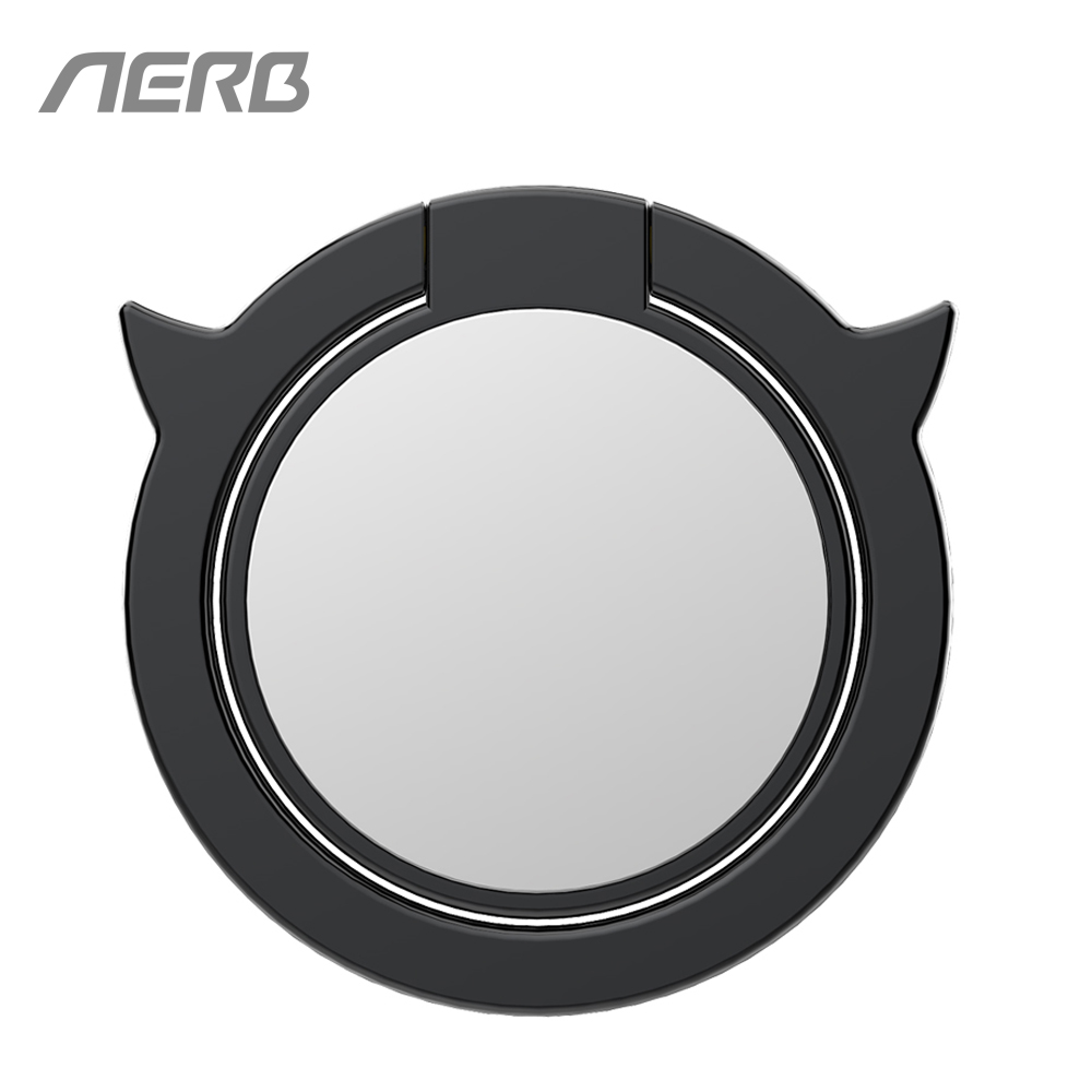 Aerb Zinc Alloy Finger Ring Holder Stand Mirror Demon Design 360 Degree Rotating Phone Mount For Magnet Holder For iPhone X 8 7
