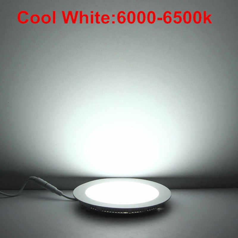อัลตร้าบางโคมไฟLed 3วัตต์4วัตต์6วัตต์9วัตต์12วัตต์15วัตต์25วัตต์รอบ/ตารางนำเพดานโคมไฟAC85-265VนำแสงแผงSMD2835
