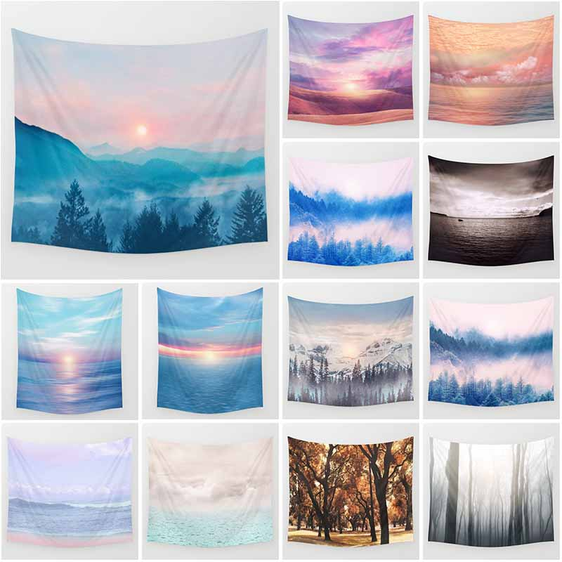 Hot sale creative beautiful scenery wall hanging tapestry home decoration tapiz pared L  200*150cm M 150*130cm