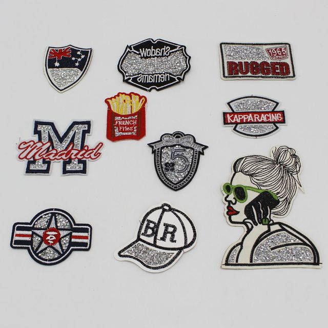US $0 65 22% OFF|1 pcs hot melt diamonds patch decals badge phone  decoration hat shoes clothing repair diy accessories-in Patches from Home &  Garden