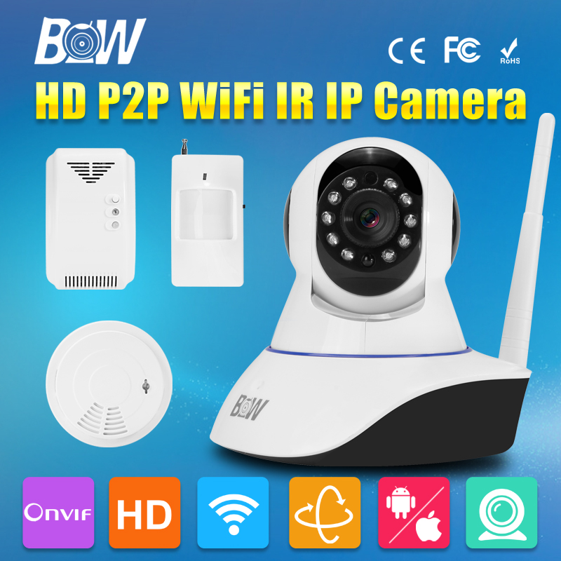 BW Mini HD IP Camera 720P Wireless Wifi Home Video Security Surveillance Camera IR-Cut Night Vision CCTV Linkage Alarm Function bw wireless wifi door