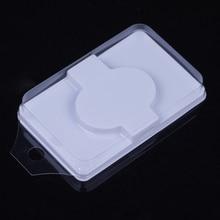 лучшая цена 50 pc/pack False Eyelashes face shape lash trays Packing Box Transparent Cover One Pair Soft Individual Eyelash Pad Lash Tool