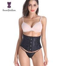 Espartilho, corset curto de renda floral, shaper de cintura, underbust waspie, tamanho xs para 3xl 24 espiral, aço, espartilho 2830 #