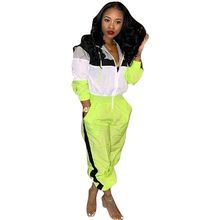 spring new womens casual hooded jumpsuit color green pink