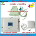 Новый 2017 GSM И DCS Booster! FDD Мобильного Телефона Сигнал Повторителя 2 Г GSM 900 DCS 1800 МГц МГц 4 Г Усилитель Сигнала Усилитель С Антенной