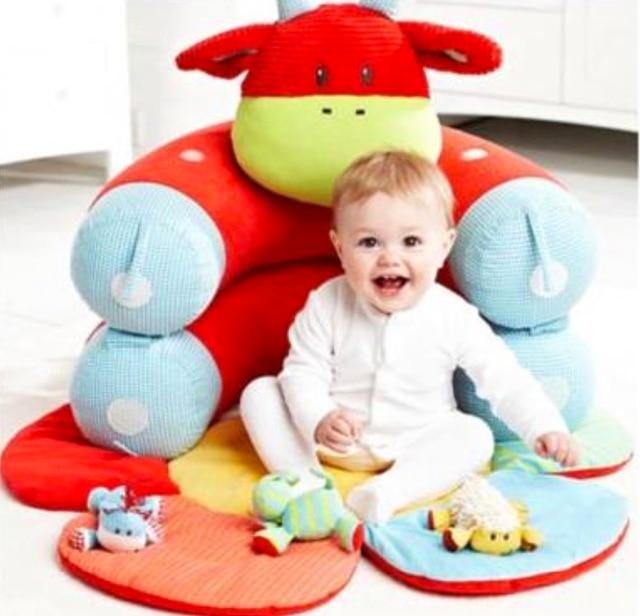 Baby Plush Seat ELC Inflatable Baby Plush sofa Cute Plush Baby ...