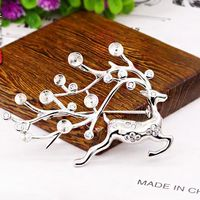 5 7mm Pearl Semi Mount Engagement Brooches 925 Sterling Silver Spotted Deer Fine Jewelry White Gold Color DIY Stone