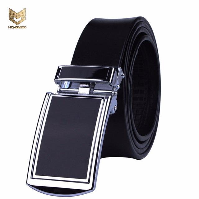 Hongmioo 2017 nuevo diseñador de moda cinturón para hombre automática hebilla de cinturón de cuero para hombre 90 cm-125 cm de lujo cinturones para hombres