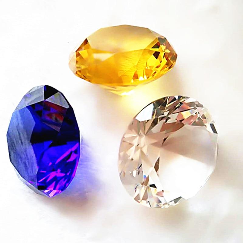 100 шт/партия, Топ AAA, 30 мм кристалл Roundle алмаз, кристаллический пресс-папье, для украшения свадебной вечеринки подарок