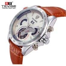 TEVISE marca Mecánico Automático de Los Hombres Relojes Tourbillon de Lujo Gran Dial Relojes A Prueba de agua Reloj de Pulsera Del Relogio masculino