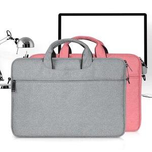Image 5 - Multi Funktionale Laptop Tasche Sleeve Durchführung Fall mit Gurt für MacBook HP Samsung Acer Asus Dell Lenovo Notebook 13 14 15 zoll