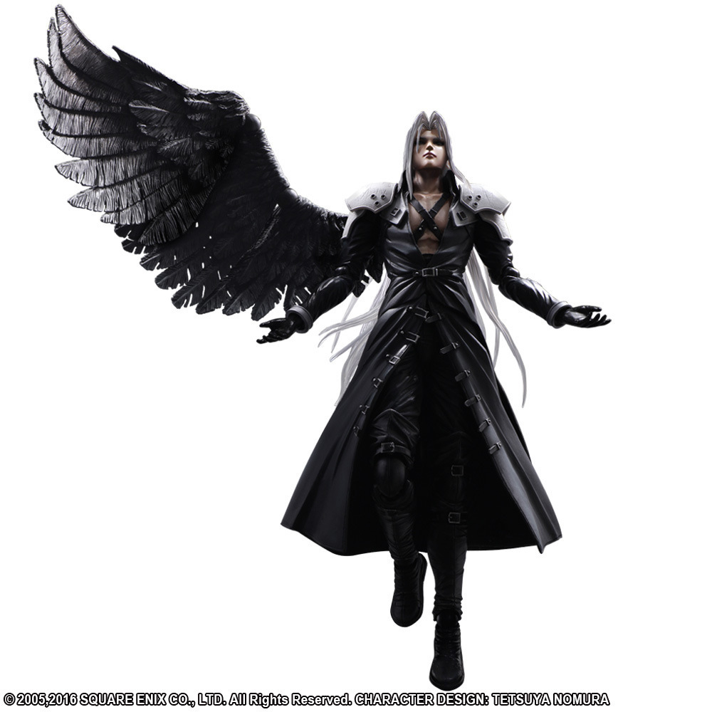 Paly Play Arts Kai <font><b>Final</b></font> <font><b>Fantasy</b></font> VII <font><b>7</b></font> Sephiroth PVC Action Figure Squall Leonhart Gunblade Figure Collectible 25cm Model Toy image