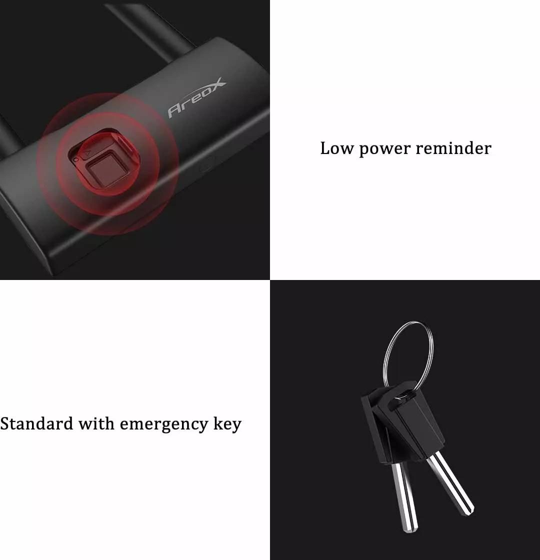 AreoX U8 Smart Fingerprint U-lock