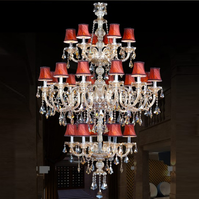 Floor Crystal Chandelier Lamp Spider Lampshade Hallway Chandeliers Cover Chihuly Style Staircase
