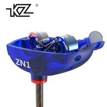Наушники KZ ZN1 мини двойной драйвер гарнитура extra Bass Turbo широкое звуковое поле в ухе наушник Fone де ouvido