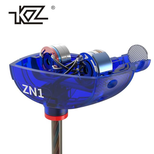 Earphones KZ ZN1 mini Dual Driver Headset Extra Bass Turbo Wide Sound Field In-ear Earphone fone de ouvido