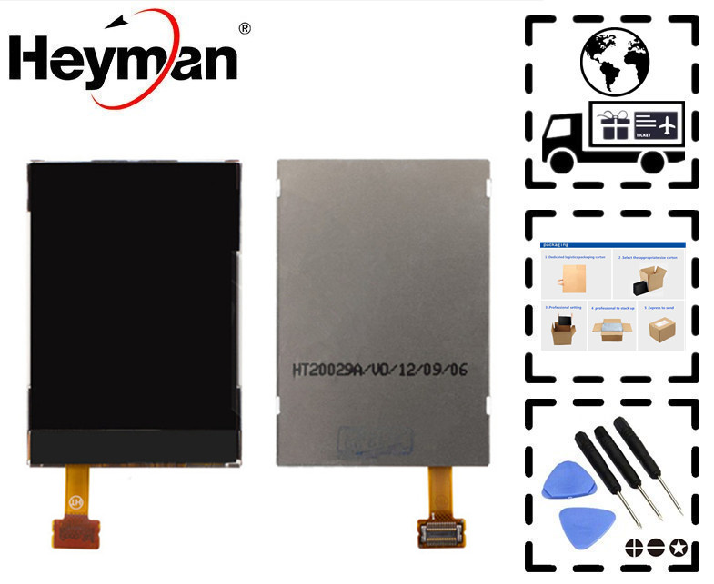 Heyman LCD for Nokia 5320, 6120c, 6300, 6350, 6555, 7500, 8600 LCD display screen Replacement parts