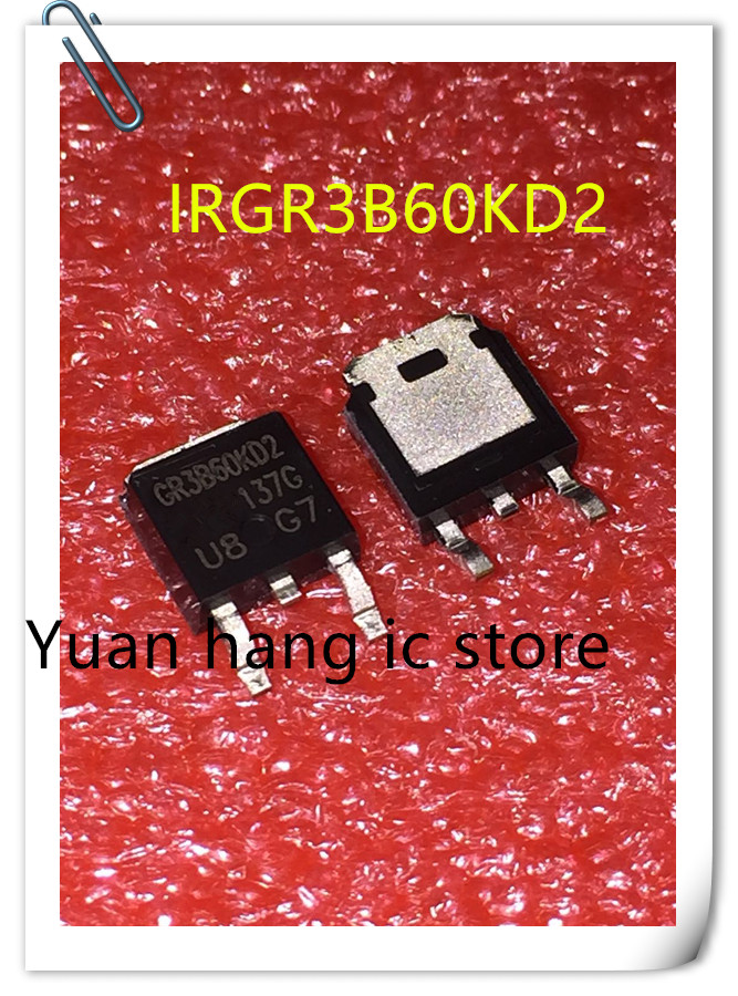 10pcs New Original IRGR3B60KD2PBF GR3B60KD2 IRGR3B60KD2 TO252 IC
