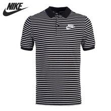 Original New Arrival NIKE Men's Stripe POLO Short Sleeve Sportswear