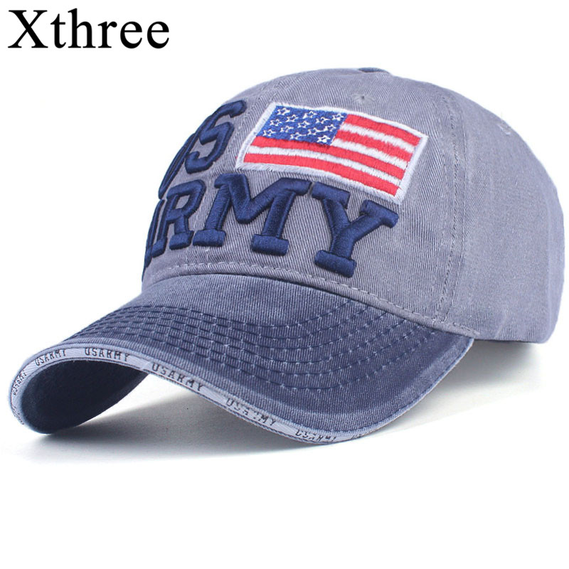 Xthree 100% Washed Cotton Baseball Caps Men Summer Cap Embroidery Casquette Dad Hat for Women Gorras Planas snapback Hat Army geersidan fashion cotton summer autumn baseball cap women casual snapback hat for men casquette homme letter embroidery gorras