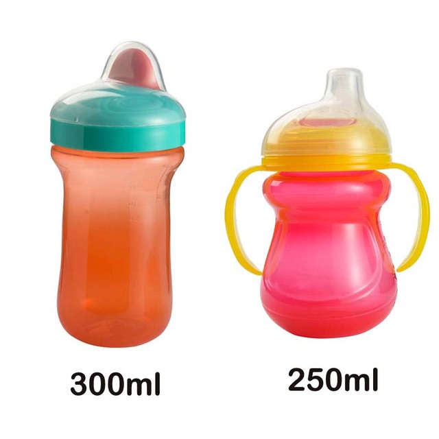 Baby Sippy Bottle Kids Straw Bottle with Handles Child Bottle Milk Water Sippy Cups Children Learn Drinking Water Training Cup