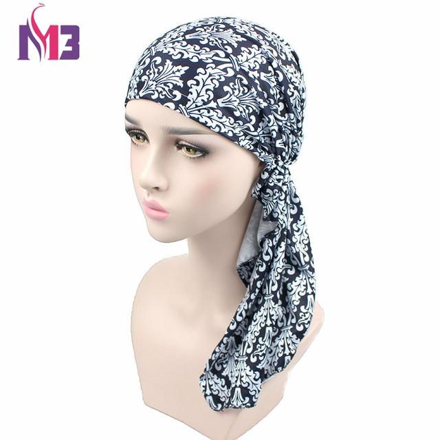 Donne di lusso di Stile Caldo Stampa Tappo Turbante Chemio Cappello Signore  Accessori Per Capelli Headwear 205d7158fcf7