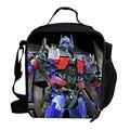 Милый теплоизолирующего сумка для детей школьных обедов Optimus шмель мегатрон кулер обед мешок для детей мальчики девочки