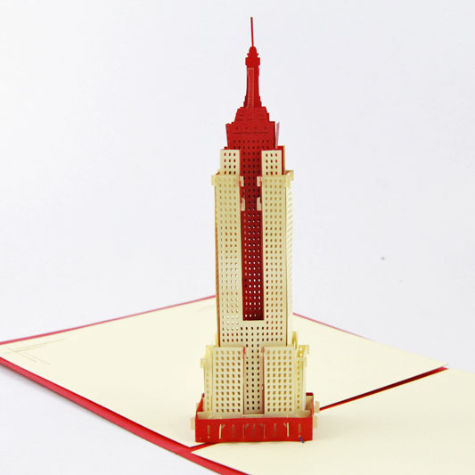 Cubic life 3D greeting card Empire State Building stereo greeting card creative American travel card
