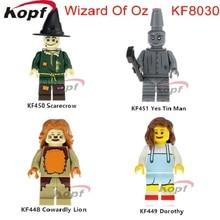 KF8030 Épületblokkok Óriási Varázsló Oz Ó Tin Man Gyáva Lino Dorothy Scarecron Tégla Akció gyerekeknek Játékok