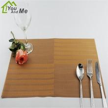 45*30 cm de Jantar PVC Placemat Mat Mesas De Bar Mat À Prova D' Água Acessórios de Cozinha Tigela Pad Mesa de Jantar Decoração