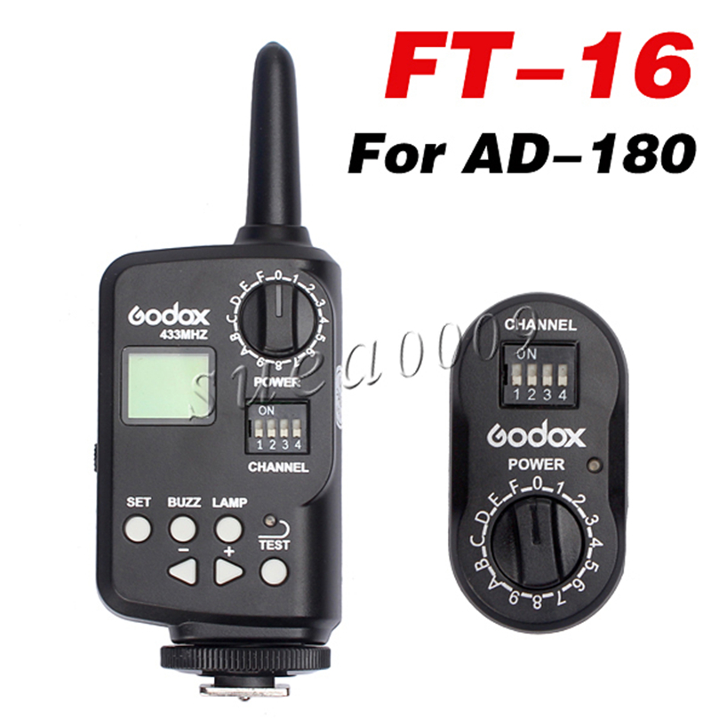 Godox FT-16 FT16 16 Channel WITSTRO Wireless Power Controller Trigger for AD-180 Flash + Free Shipping brand new original plc b1 l2da plc 24vdc analog i o expansion modules
