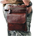 New Brand Vintage Casual 100% Genuine Leather Cowhide Mens Men Waist Bag Pack Shoulder Crossbody Bag Bags Packs For Man