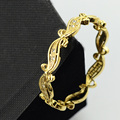 1pcs 6mm Baby Gold Jewelry Yellow Gold Plated Bangles Bracelets Closed Style With Crystal