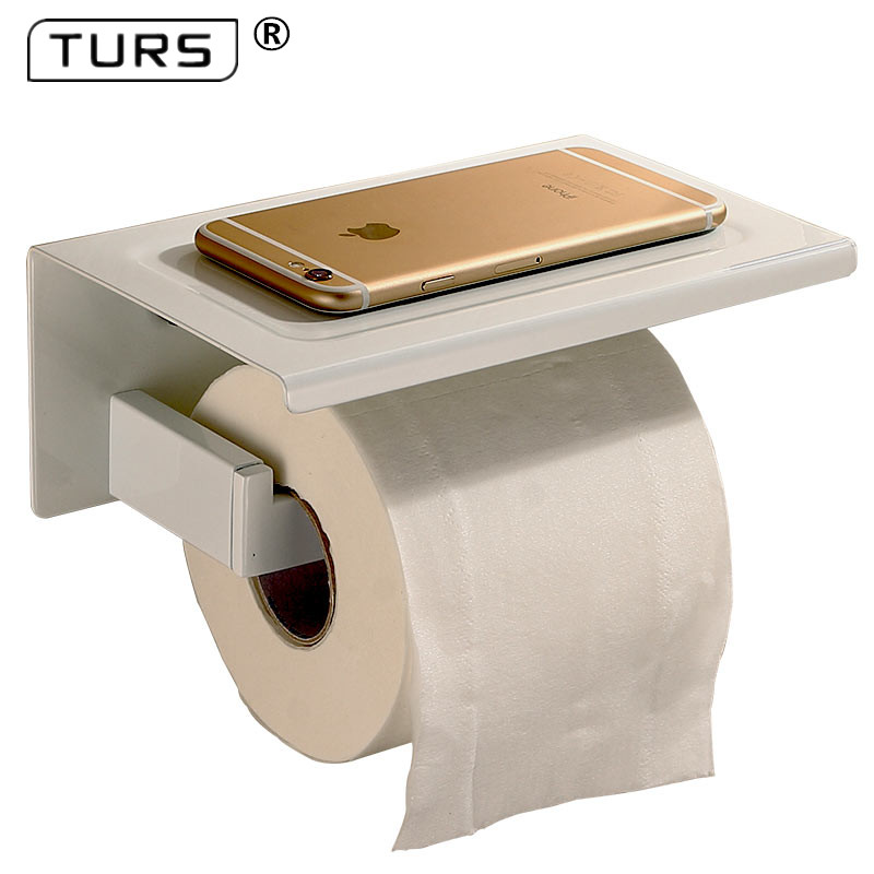 SUS 304 Stainless Steel White Toilet Paper Holder Bathroom Toilet Roll Holder For Roll Paper Towel Square Bathroom Accessories 304 stainless steel tape paper carton waterproof paper towel box toilet roll holder hand hand carton carton