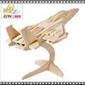 Бесплатная доставка F-15 истребитель Plany 3D деревянные головоломки детские игрушки, Логико учебных пособий, Кросс - страна мотоцикл головоломки
