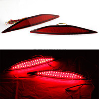 LED Red Lens Rear Bumper Reflector Brake Parking Lights Brake Lamp For VW Golf 7 2013