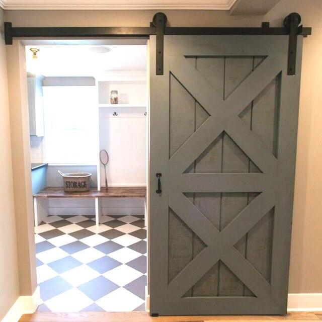Etonnant (Free Shipping) Rustic Vintage Plate Sliding Barn Door Hardwareu0026Barn Door  Track Schuifdeur System 4ft